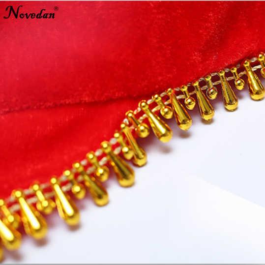 2 sztuk wschodniej taniec orientalny chusteczka chińskie tradycyjne Folk kostium taneczny dzieci kobiety dziewczyny Yangko czerwony