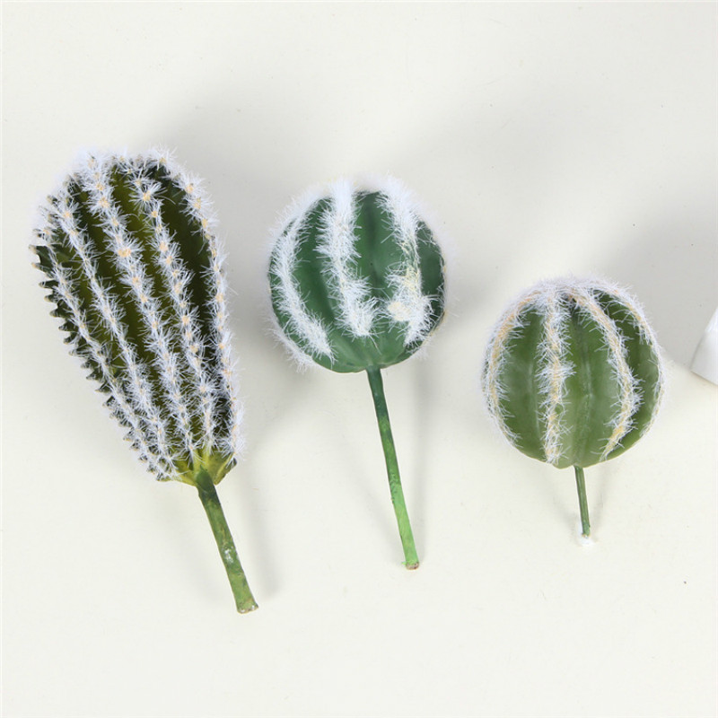 Artificial Cactus Ball Simulation Plants Wall Green Desert Succulent Plants Foam Flowers Home Office Desktop Decoration Bonsai