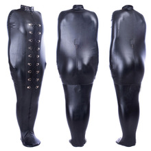 Bodysuit PU Leather Full Body Bondage Bag BDSM Binder Straitjacket Sleeping Sack Fetish Slave Restraints Body Harness Costume цены онлайн