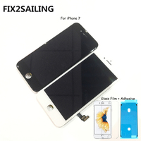 FIX2SAILING 100% Grade AAA LCD Display Touch Screen Digitizer Assembly Replacement For Apple iPhone 7 +Glass Film +Adhesive