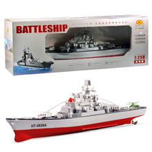 Free Shipping 1:250 HT-3826A RC Battleship Model Central Command Cockpit Simulation Seaplane Assembly Model warship DIY ship toy