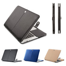 Mosiso Soft Portable Men Black PU Leather Laptop protect Case for Macbook Air 11 13 Pro 13 15 Retina 12 Women Mac Cover