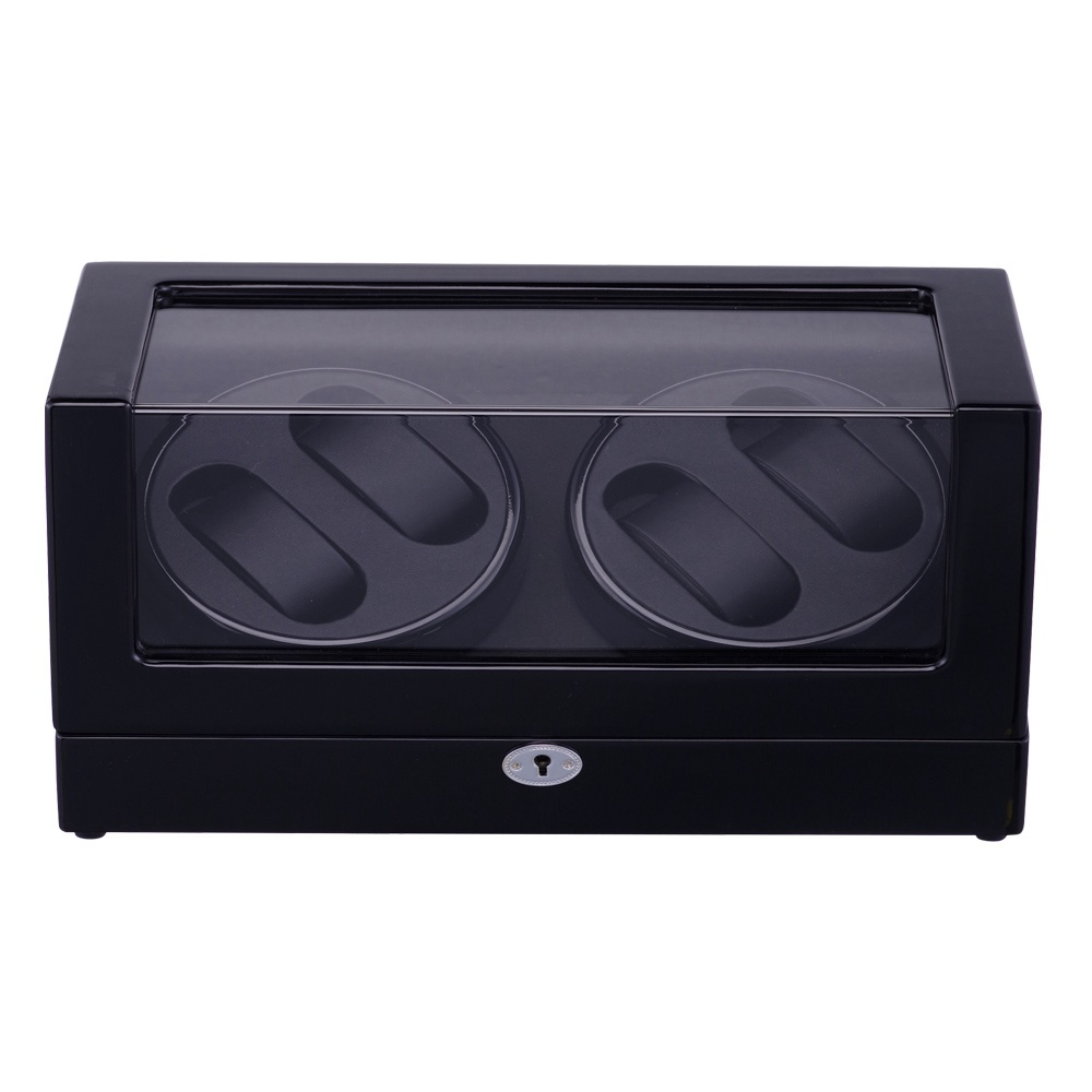 Watch Winder ,LT Wooden Automatic Rotation 4+0 Storage Case Display Box The new style 2018 (All black) watch winder lt wooden automatic rotation 4 0 watch winder storage case display box the new style all carbon
