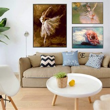 Elegant Ballet Woman Artwork Posters and Prints Wall art Decorative Picture Canvas Painting For Living Room Home Decor Unframed predator movie figure artwork posters and prints wall art decorative picture canvas painting for living room home decor unframed