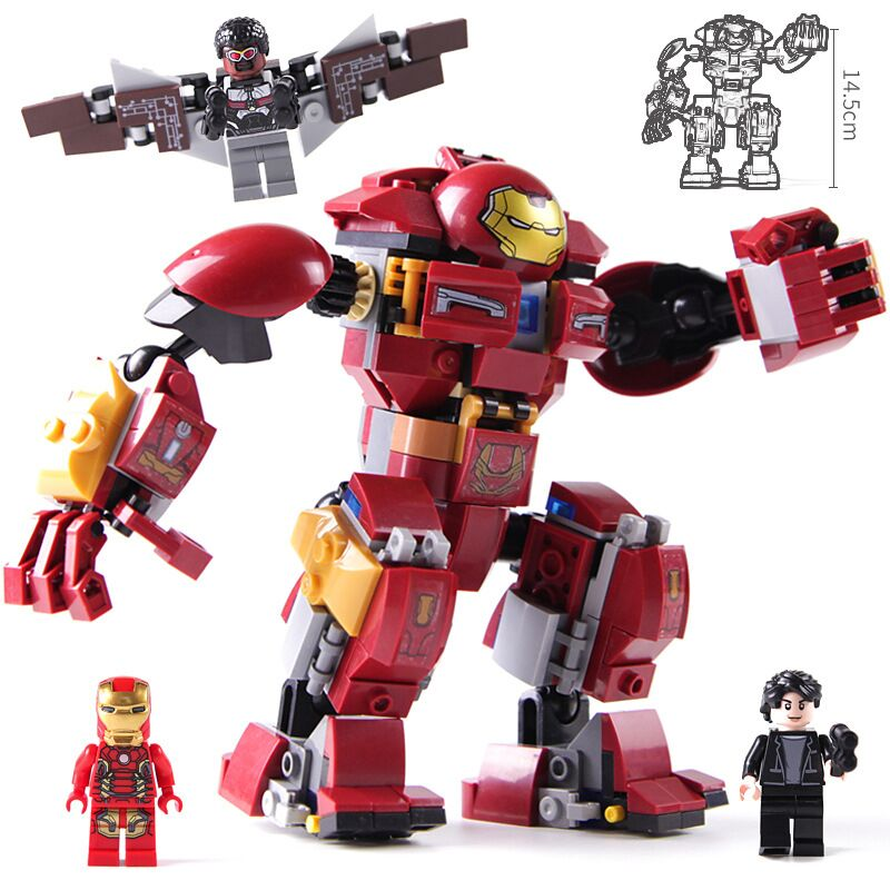 New Superheroes Hulkbuster Smash U Building Blocks Compatible Iron Man 76104 Marvel Avengers Endgame Infinity War Hulk Buster in Blocks from Toys Hobbies