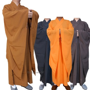 Extra-wide Sleeves Buddhist Monk Dress Haiqing Robe Zen Masters Gown Shaolin Kung fu Suit Meditation Uniform
