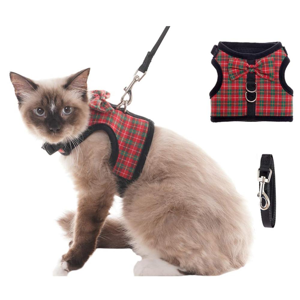 Bowtie Kat Harness Mesh Kitten Puppy Jassen Honden Vest Harness Leads Traction Pet Kleding Voor Kleine Honden Yorkies Pug Chihuahua Om Een Ongewoon Uiterlijk Zeker Te Stellen