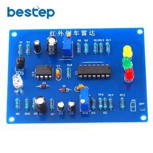 Infrared Parking Sensor kit Infrared Reversing Speed Reminder Electronic Assembly Debugging DIY(China)