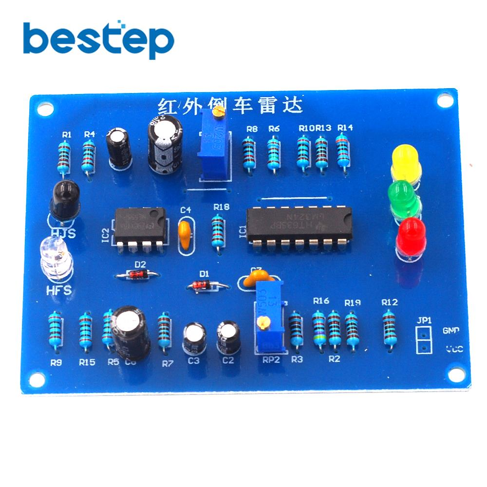 Infrared Parking Sensor kit Infrared Reversing Speed Reminder Electronic Assembly Debugging DIY