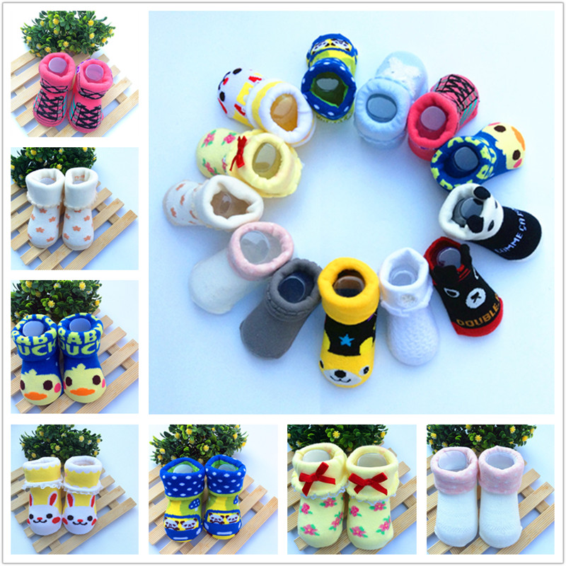 1PC   0-1 Year Old Spring And Summer Months Thin Air Newborn Infant Baby Socks And Pure Cotton Doll By Stereo
