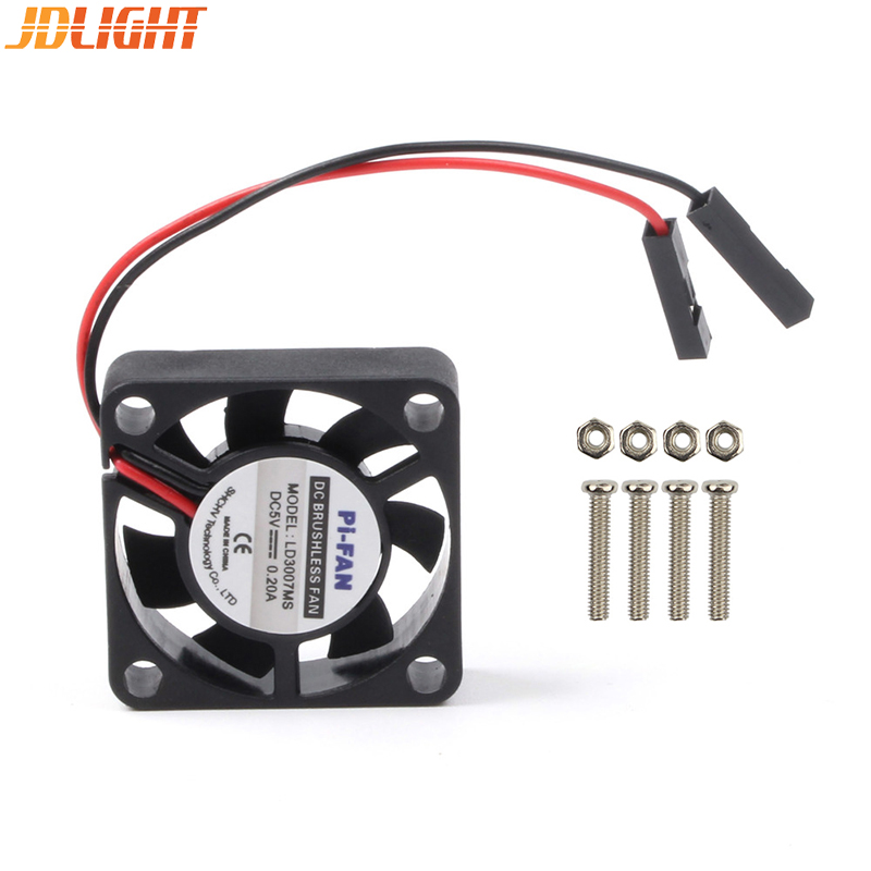 Raspberry Pi Fan Adjustable 3.3V/5V Seperated Connectors Brushless Cooling Fan For Raspberry Pi 3 Model B + Plus / 3 / 2 / B+