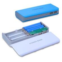 Портативный аккумулятор Power Bank Box Shell Дело Box Dual USB 2 порта DIY Kit PowerBank 18650×5 DIY PowerBank Чехол (без батареи)