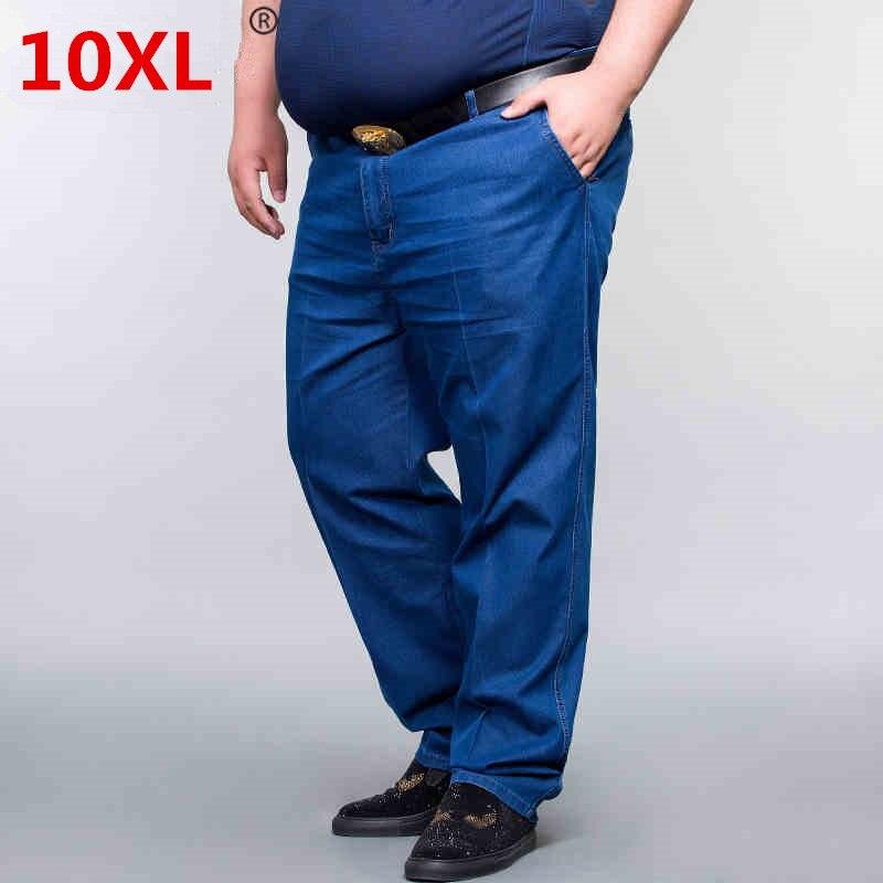 Plus 10XL 8XL 6XL 52 50 New 2018 spring Jeans Men Vintage Denim Pants Casual Pants Slim Fit Brand Clothing Male Denim Trousers