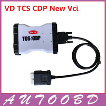 DHL Free Quality A+2014.2 White VD TCS CDP Pro Plus 2014.R2 with LED LIGHT+21 languages Flight&Speaker function for cars/ trucks