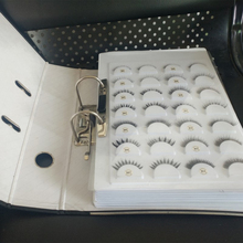 70 Pairs Eyelash Storage Book Eyelashes Display Card False Sample Catalog Package Tray without false eyelash organizer