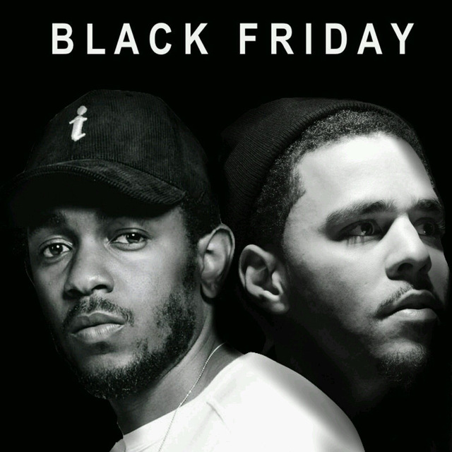 Kendrick Lamar & J Cole Black Friday Hip Hop Art Poster 24x24 inch