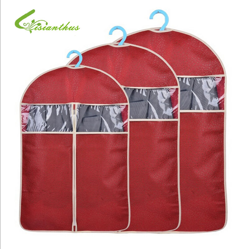 New 3PCS Storage Garment Bag Protective Cover Guards Cloth Against Dust Moths And Mildew Hot Transparent Clothes Cover Clothe
