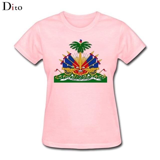 2e1738032d5771 Women S Tee Crest Haiti Flag Tee Shirt Women Woman Design Short ...