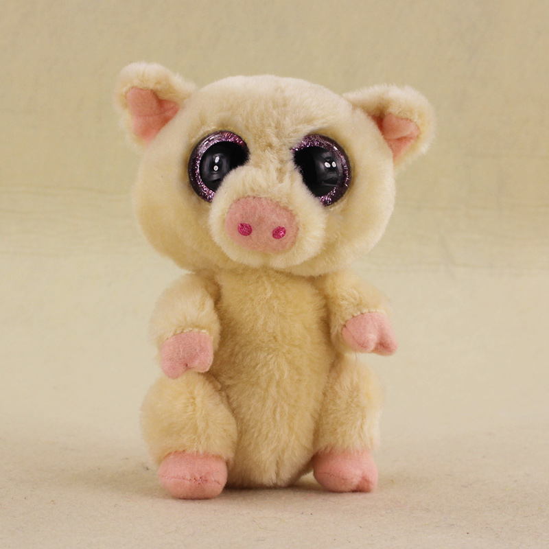 15cm Ty Beanie Boos Big Eyes Pggley the Pig Stuffed Animal Corky Pig Plush Doll for