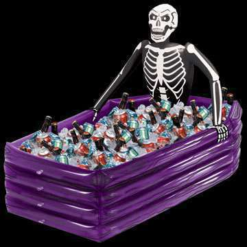 skeleton halloween inflatable cooler buckets ice cooler pvc inflatable coffin drink cooler party supplies