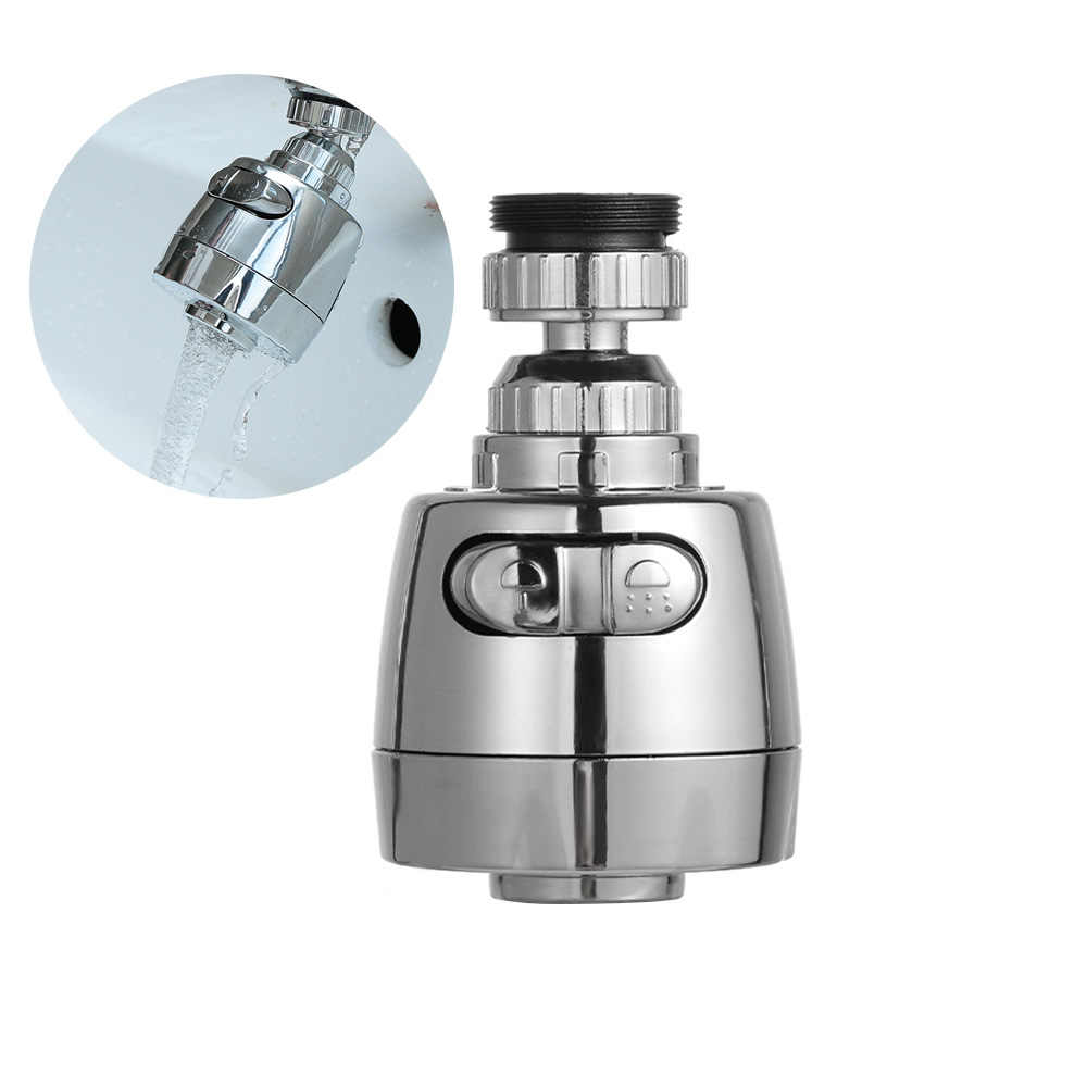 360 Rotatable Membungkuk Hemat Air Aerator Diffuser Faucet Nozzle Filter Air Kepala Putar Keran Dapur Konektor Suku Cadang