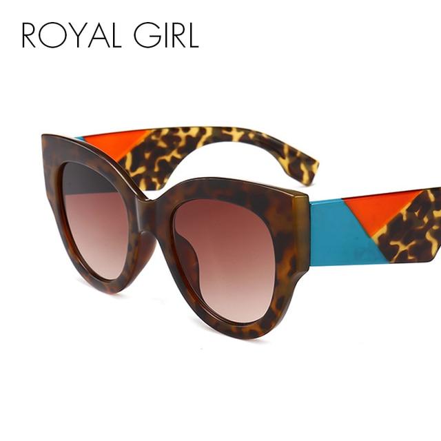 3f57162dc ROYAL GIRL New Fashion Women Round Sunglasses 2018 Brand Designer Vintage  Oversized Black Pink White Sun Glasses Men ss102