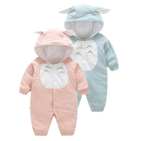 autumn winter Thickened warm Newborn Rompers Style Totoro Baby jumpsuit Soft Comfortable Breathe Freely 100% Cotton clothes