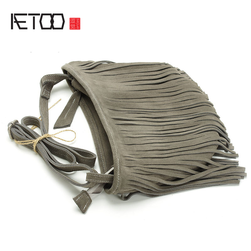 AETOO The new section of the Soviet Union package of leather twisted bag package retro frosted bag the soviet union tube diy hifi 6u4n eb 6u4n 6u4