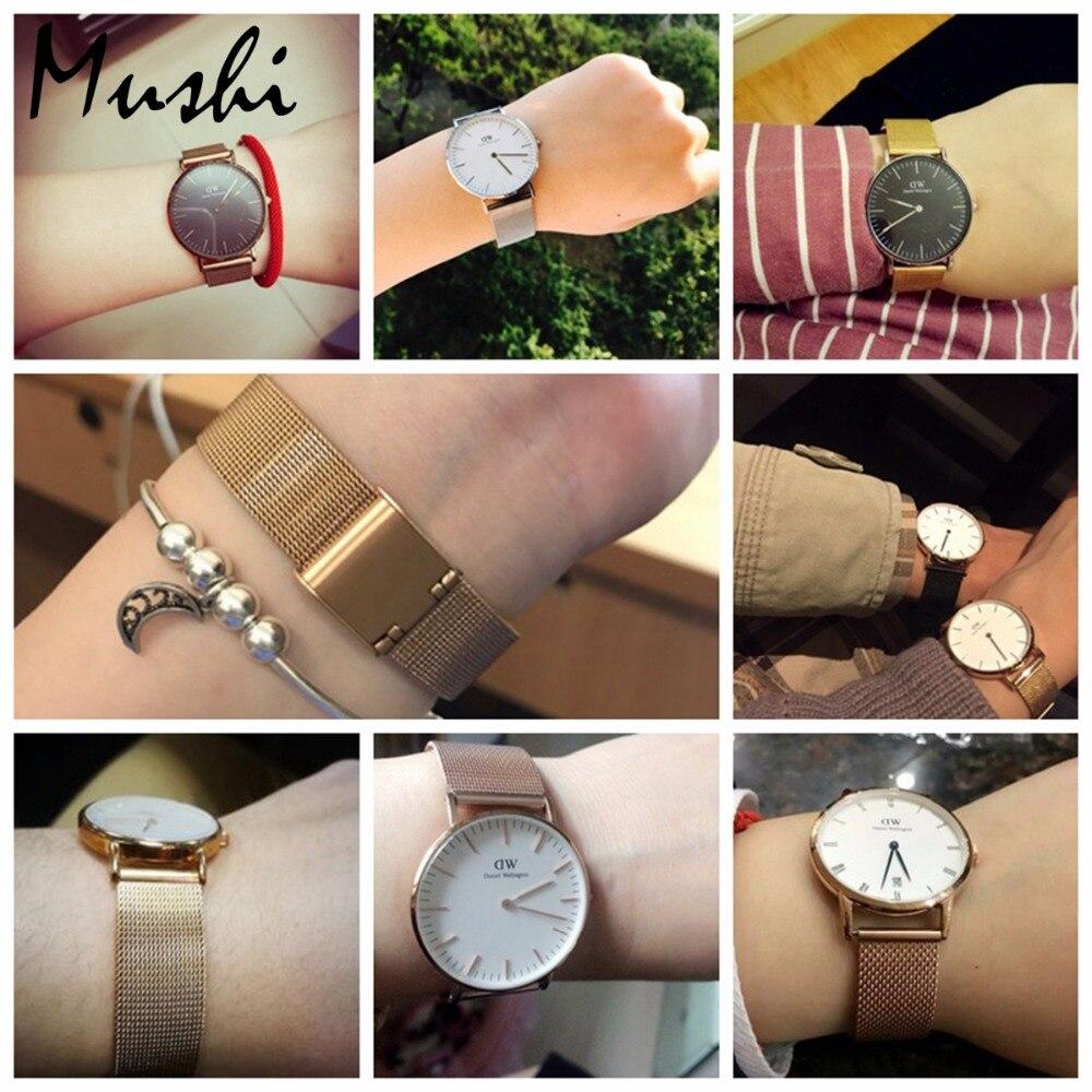 Milanese Stahlarmband für DW Armband Armband Silber Edelstahlarmband - Uhrenzubehör - Foto 6