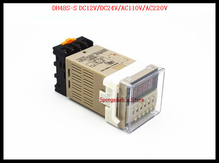1 Set DH48S-S DC12V, DC24V, AC110V, AC220V Multifunction Digital Timer Relay 0.01S-99H On Delay 8 Pins SPDT Repeat Cycle zys48 s dh48s s ac 220v repeat cycle dpdt time delay relay timer counter with socket base 220vac