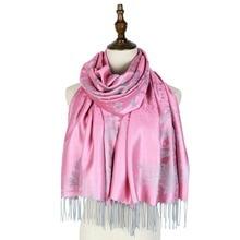 jacquard scarf wraps pashmina shawls viscose winter scarfs woman fashion hijab soft mujer women
