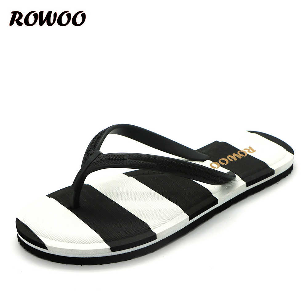 3daab412bd69 Brand New Women s Thong Flip Flops Striped Casual Summer Sandals for Ladies  Navy Style Beach Shoes