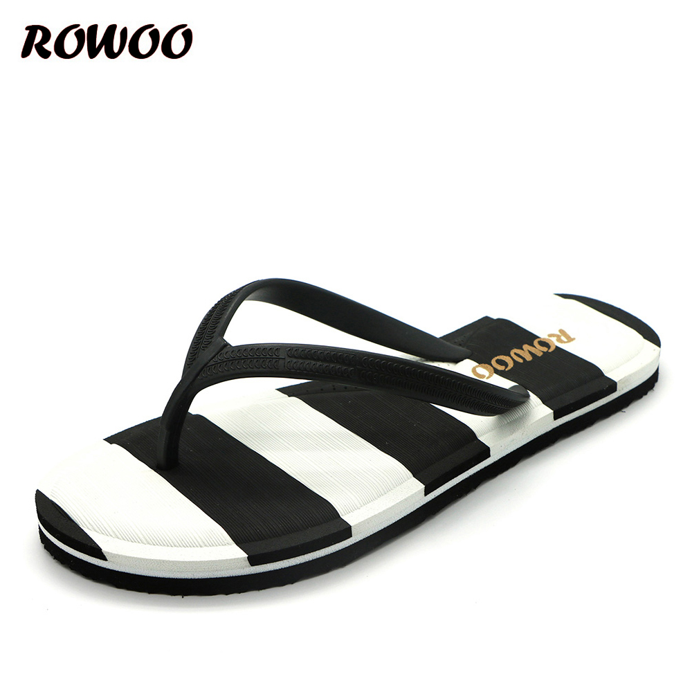Women's Thong Flip Flops Striped Casual Summer Beach Sandals For Ladies Multicolor Flat Slippers Female Footwear Wholesale
