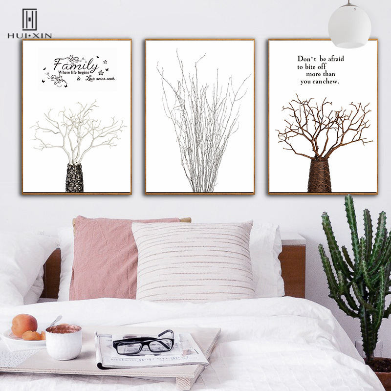 Abstract Style Dead Tree Branches Wall Art Print Decorative Canvas