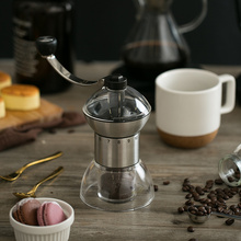 YEATION Mini Manual Coffee Grinder Adjustable Retro Easy Cleaning Stainless Steel Acrylic