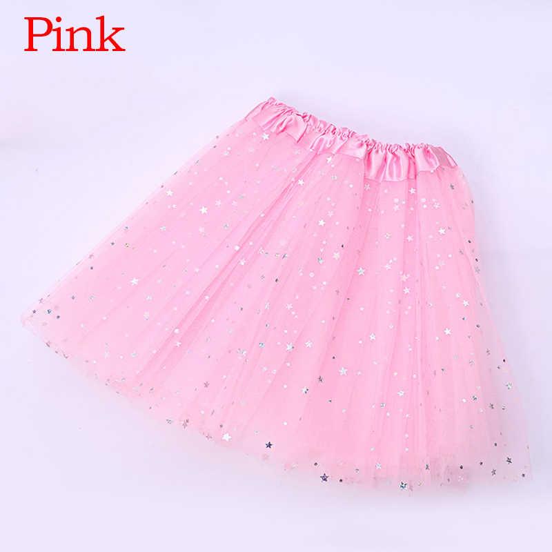 素敵なふわふわソフトチュールベビー子供ダンスチュチュのためのスパンコール 3 層チュール幼児ペチコート子供ダンススカート