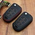 Genuine Leather car key holder cover case keychain for KIA rio ceed cerato sorento soul sportage  Bongo Sorento remote protector