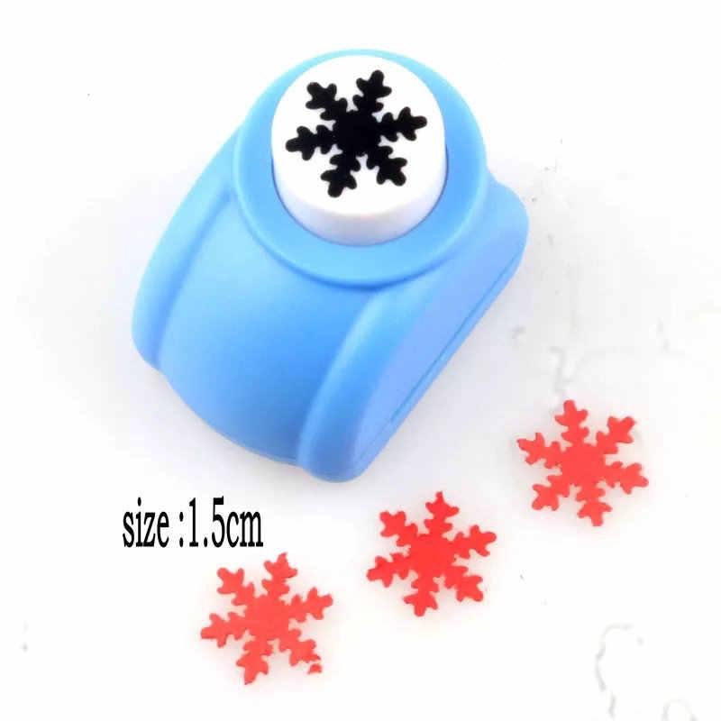 "5/8 ""-3"" flocon de neige poinçon perforadora de papel snowflower coupe-papier cortador de papel scrapbook furador de papel furador eva"