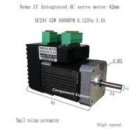 52W 4000rpm NEMA17 0.125Nm 42 AC integrated servo motor Small volume servo motor 42BLS91EC1 YT