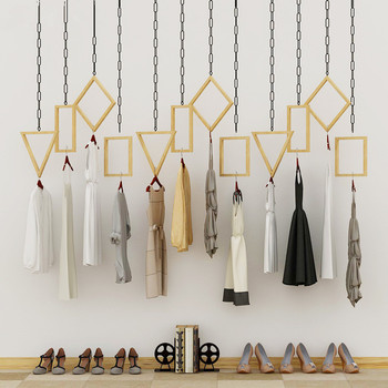 Multifunctional hanger hanging on the wall of display rack in clothing store women s clothing store shelf hanger display rack floor style children s clothing store clothes rack horizontal bar gantry frame