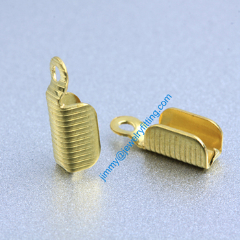 2013 jewelry findings Base metal foldover crimps for cord Chain end caps chain welding die struck shipping free