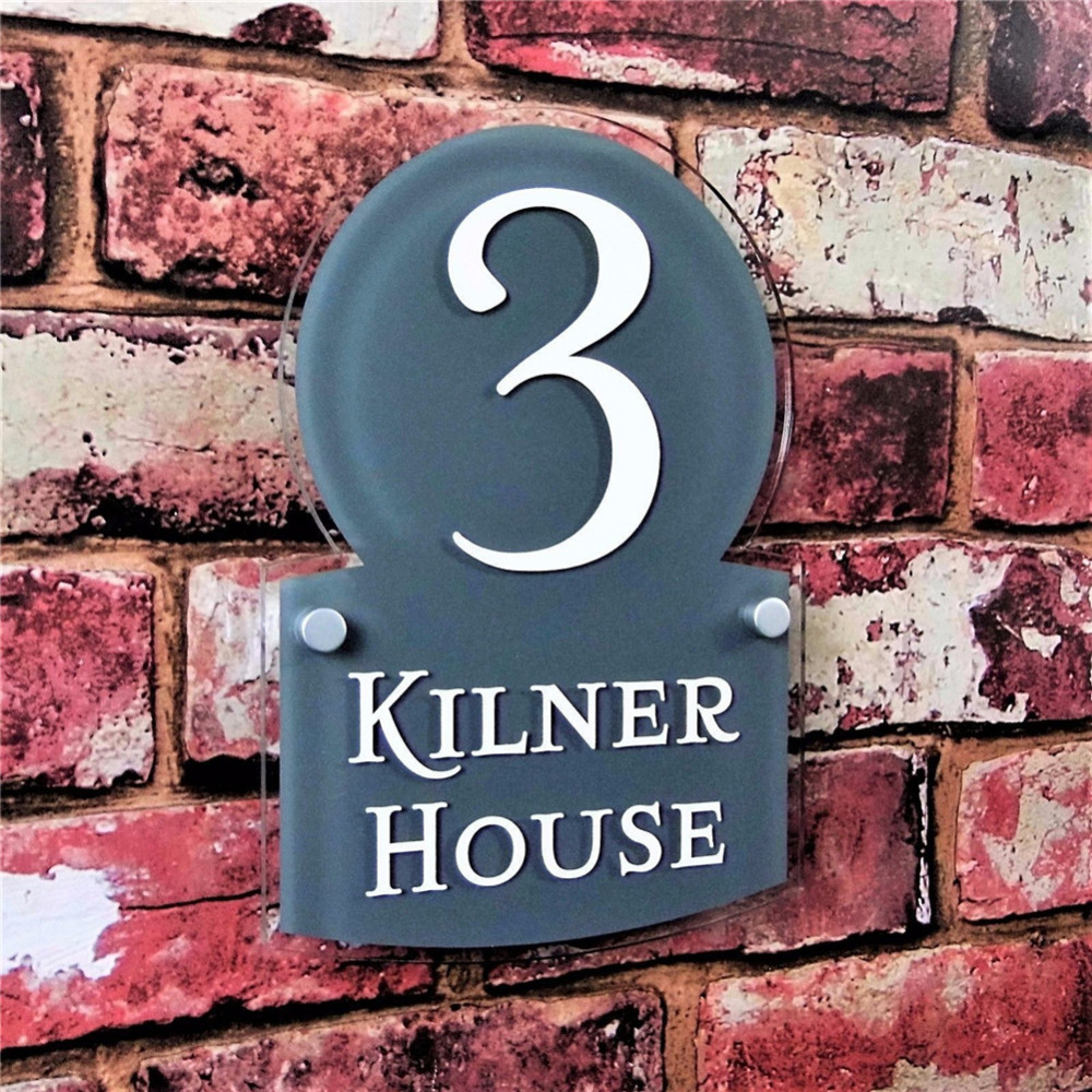 280*200mm Customized Transparent Acrylic House Number Plaques Sign Plates House Signs with Vinyl Films customized transparent acrylic house number plaques sign plates door number street name plates house signs with frosted films