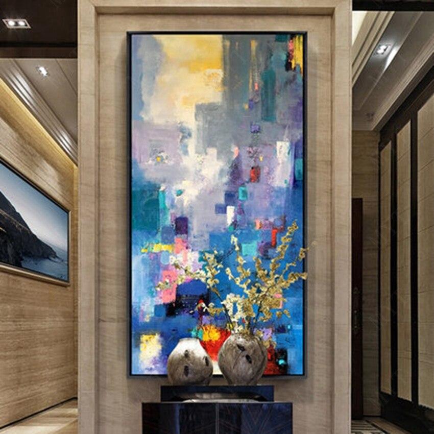Новые поступление без рамки Одна деталь краски код ручная роспись Абстрактная живопись маслом абстрактный Дизайн для дома стены комнаты ук...