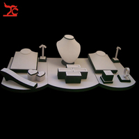 Free Shipping Jewelry Display Stand Wholesale White and Black Necklace Chain Ring Earring Window Display KIt Set