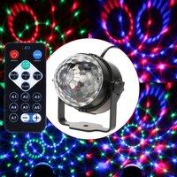 7 Color Remote Control LED Crystal Magic Ball 3W Mini RGB Stage Lighting Effect Lamp Bulb