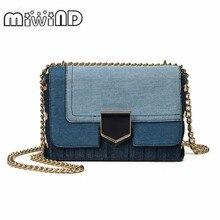 Hot Small Flap Shoulder Jeans Crossbody Bags Designer Brand Ladies Clutch HandBags High Quality Leather Women Messenger Bags цена