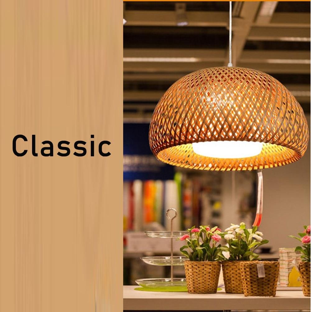 Lampe Suspension Papier Design us $50.6 64% off|new chinese bamboo weaving bamboo nest nest antique  pendant light e27 lamps lanterns living room hotel restaurant aisle  lamp|pendant