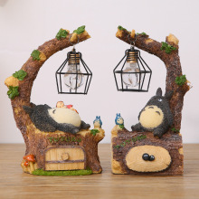 New Fashion Craft Resin Totoro Night Light LED Table Lamps Bedside Nightlights For Kids Birthday Gift leds Bed Room Decor