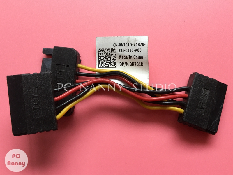 """Dell Foxconn 3.75/""""/"""" SATA Power Controller 2:1 Splitter Adapter Cable 0N701D"""