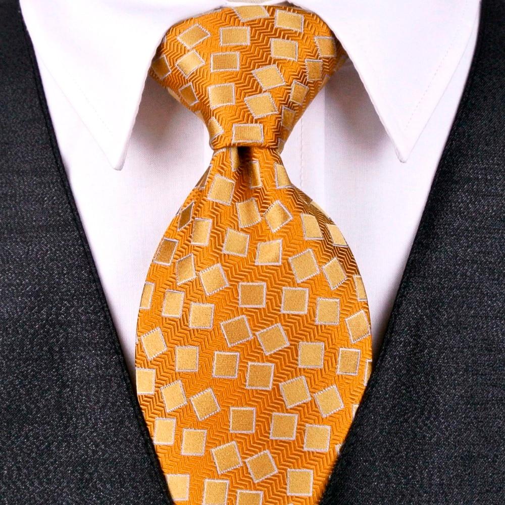Necktie - Woven Jacquard silk in solid orange Notch KfqEUvmQba